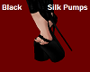 Black Silk Pumps