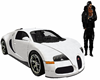 white bugatti car wit so