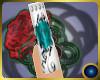 Teal Rose Nails Lush
