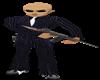 Bodyguard pinstrip suit