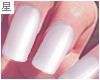 ☆. Nails : White