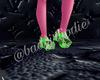 +$ bandgirl green crocs