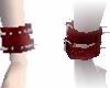 Spiked Red Wristcuff (L