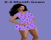 0-3 Months Gown