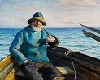 Old Fisherman Painting 2
