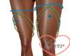 Leg  Jewels Blue/Gold