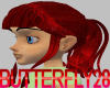 Blood Red Carra Ponytail