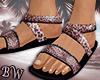 Leopard Beach Sandals -V