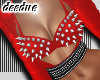 =D Metal Bra Top Red