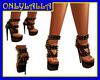 Bronze spiked sandals