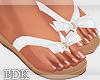 (BDK)Flat sandals white