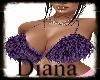 purple furry bra