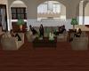 Tan Green Sofa Grouping
