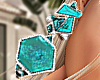 Wild Earrings Aqua