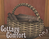 (MV) Cottage Wood Basket