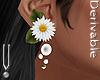-V- Flower Earrings