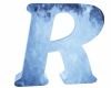 ICE Blue Letter R