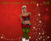 Christmas PVC Top ~ Red