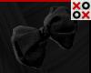 Black Bow Hair Clip - L