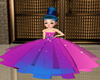 Girl Pink-Blue Gown