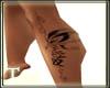 Butterfly leg tat (F)