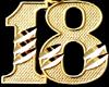 [bamz]number 18 gold