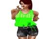 Green Black top shorts