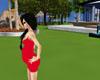 dress pregnat red