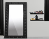 :3 Black Tufted Mirror