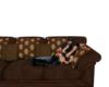 (J)Drk Brown Cuddle Sofa