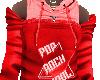 red hoody top