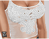 ❥ Lacy Floral White.