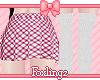 🎀 School skirt pink
