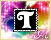 Letter T Stamp