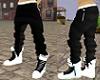 Black pants white kicks