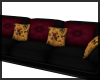Black/Rose/Ochre Couch