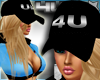 Hat with Blonde Hair