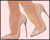 E* Beige Glass Heels