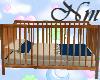 Navy and Tan crib