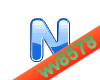 The letter N (Blue 2)