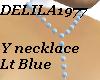 D77 Lt.Blue Y necklace