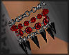 Red Black Spike Brac R