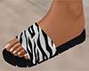 White Stripe Sandals (F)