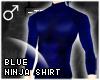 !T Blue ninja shirt [M]
