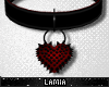 L: Spiked Heart Collar M
