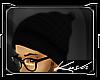Kd.Black Beanie