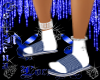 Blue Plaid Slippers