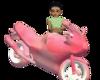 pink animated bike