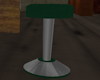 Green  and chrome stool