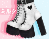 """""""A"""" White Boots"""